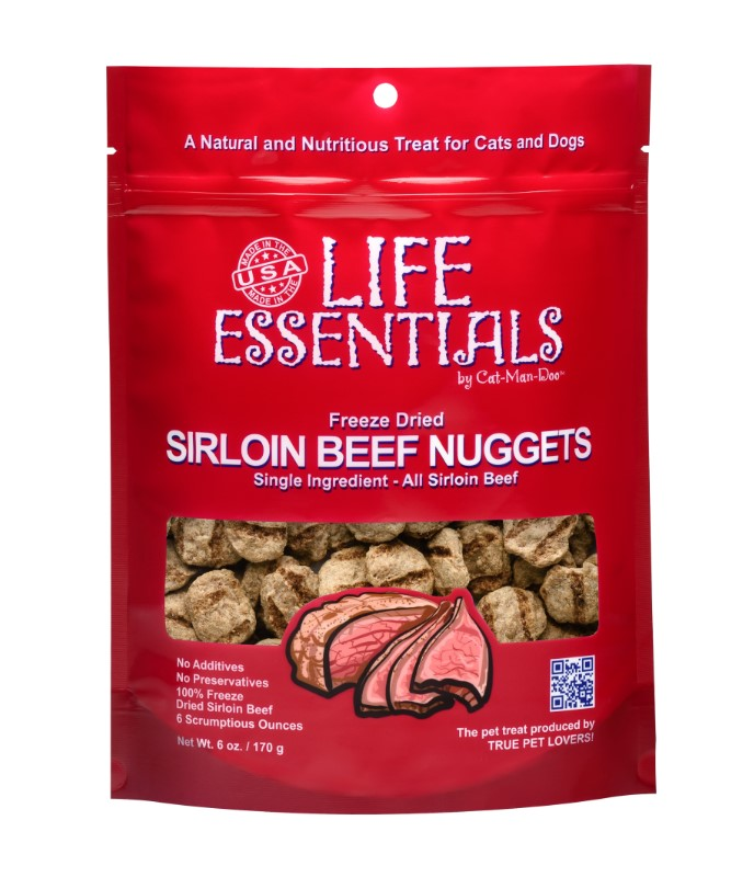 Life Essentials Freeze Dried Sirloin Beef Nuggets 6oz. Bag