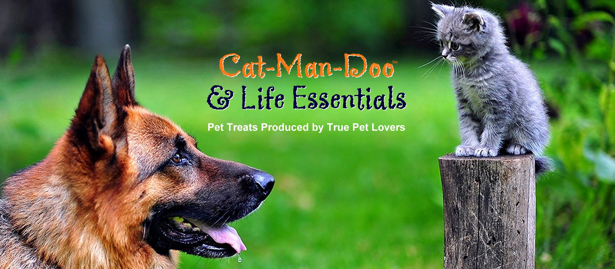 Can-Man-Doo treats for dogs and cats